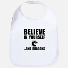 Believe Yourself Dragons Bib
