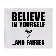 Believe Yourself Faries Throw Blanket