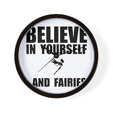 Believe Yourself Faries Wall Clock