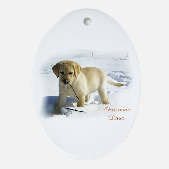 Labrador Retriever Christmas Oval Ornament