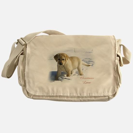 Labrador Retriever Christmas Messenger Bag