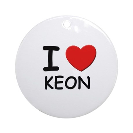 I love Keon Ornament (Round)