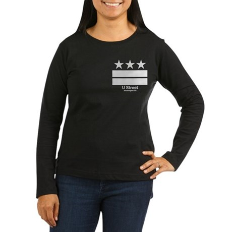 U Street Washington DC Women's Long Sleeve Dark T-