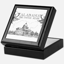Vintage Alabama Cotton Keepsake Box