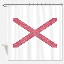 Alabama Vintage State Flag Shower Curtain