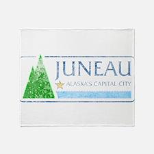Vintage Juneau Alaska Throw Blanket