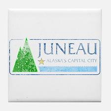 Vintage Juneau Alaska Tile Coaster