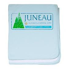 Vintage Juneau Alaska baby blanket