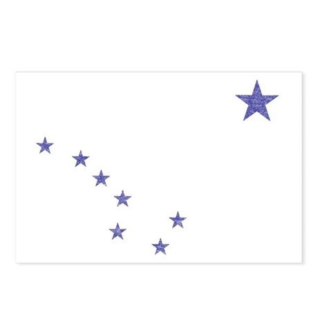 Faded Alaska State Flag Postcards (Package of 8)