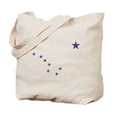 Faded Alaska State Flag Tote Bag
