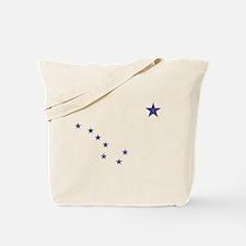 Faded Alaska State Flag Tote Bag