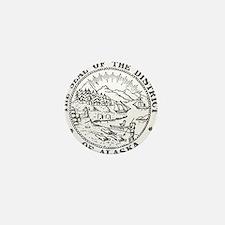 Vintage Alaska State Seal Mini Button