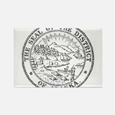 Vintage Alaska State Seal Rectangle Magnet