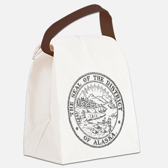 Vintage Alaska State Seal Canvas Lunch Bag