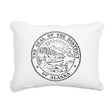 Vintage Alaska State Seal Rectangular Canvas Pillo