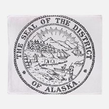 Vintage Alaska State Seal Throw Blanket