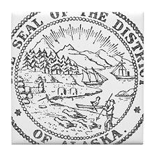 Vintage Alaska State Seal Tile Coaster