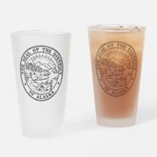Vintage Alaska State Seal Drinking Glass
