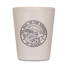 Vintage Alaska State Seal Shot Glass