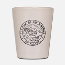 Vintage Alaska State Seal Shot Glass