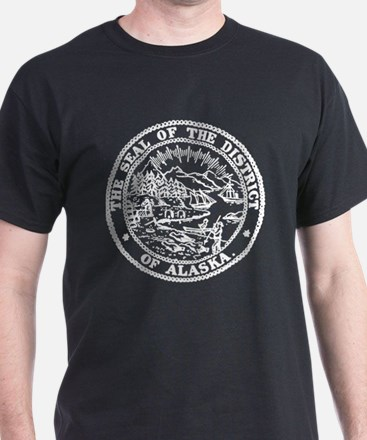 White Alaska State Seal T-Shirt