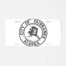 Vintage Fairbanks Alaska Aluminum License Plate