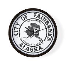 Vintage Fairbanks Alaska Wall Clock