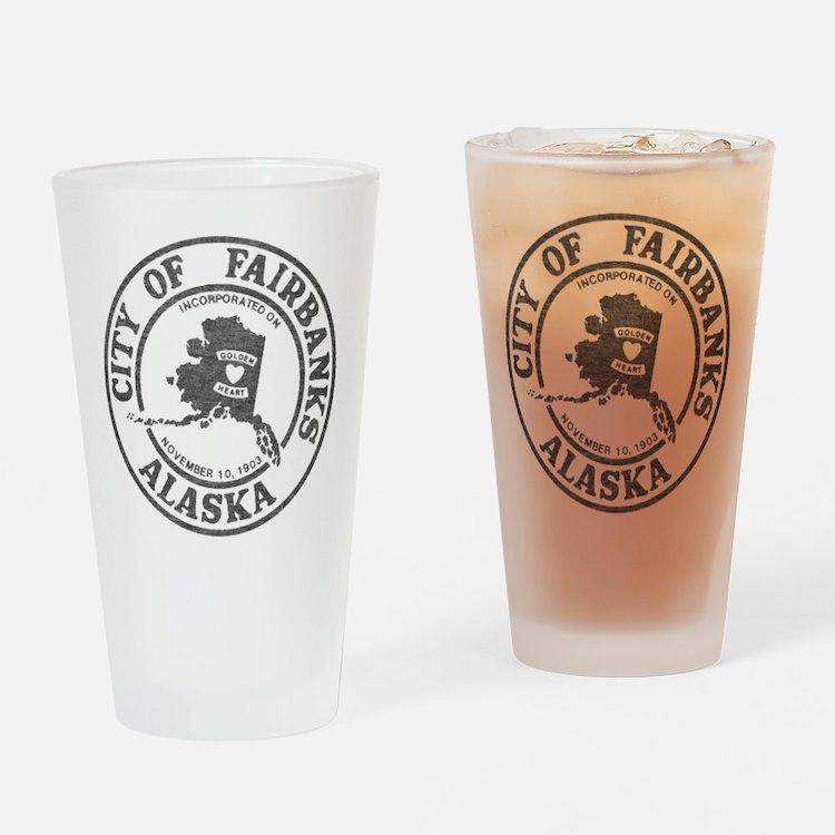Vintage Fairbanks Alaska Drinking Glass