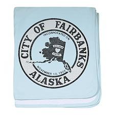 Vintage Fairbanks Alaska baby blanket