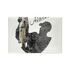 Alaska Fishing Rectangle Magnet