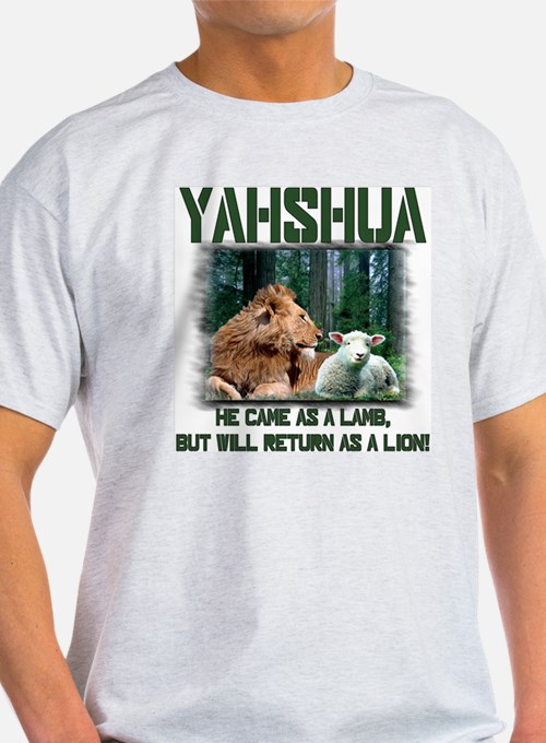 Yahshua, Lion & Lamb! Ash Grey T-Shirt