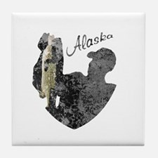 Alaska Fishing Tile Coaster