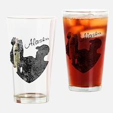 Alaska Fishing Drinking Glass
