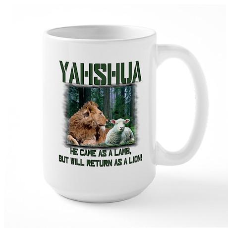Yahshua, Lion & Lamb! Large Mug