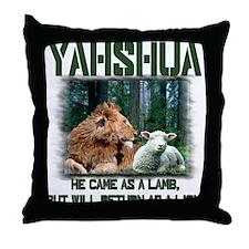 Yahshua, Lion & Lamb! Throw Pillow