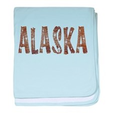 Alaska Coffee and Stars baby blanket