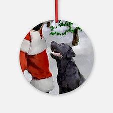 Labrador Retriever Christmas Round Ornament