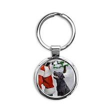 Labrador Retriever Round Keychain