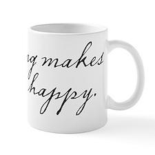 Flying makes me happy Mug