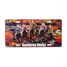 Horse Derby Aluminum License Plate