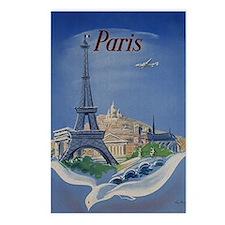 Vintage Paris France Travel Postcards (Package of