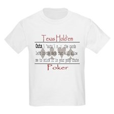 Hold'em Definitions: Outs Kids T-Shirt