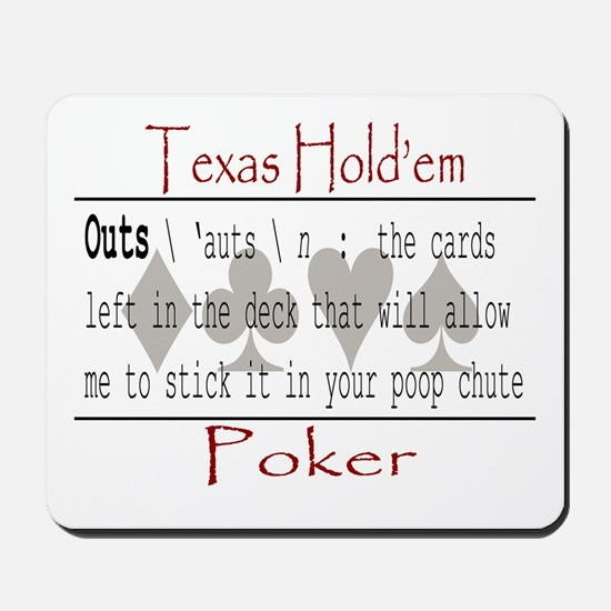 Hold'em Definitions: Outs Mousepad
