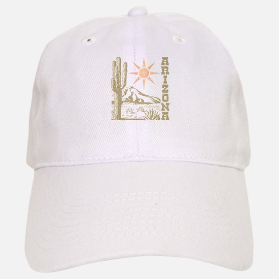 Vintage Arizona Cactus and Sun Baseball Baseball Baseball Cap