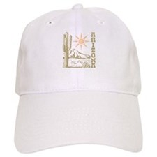 Vintage Arizona Cactus and Sun Baseball Baseball Cap