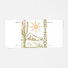 Vintage Arizona Cactus and Sun Aluminum License Pl