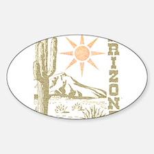 Vintage Arizona Cactus and Sun Decal