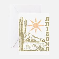 Vintage Arizona Cactus and Sun Greeting Card