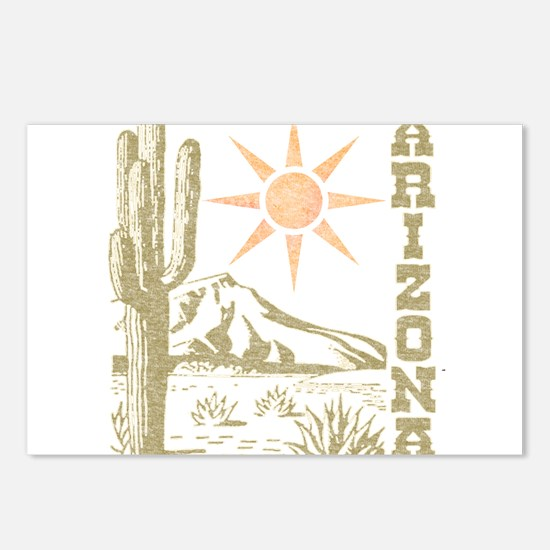 Vintage Arizona Cactus and Sun Postcards (Package