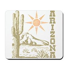 Vintage Arizona Cactus and Sun Mousepad